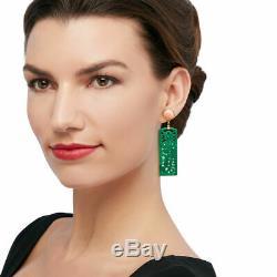 Sculpté Jade Vert Et Rose Corail Boucles D'oreilles À 14kt Or Sur Sterling Vente