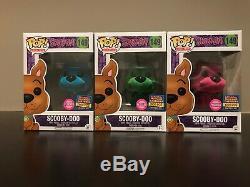 Sdcc 2017 Funko Scooby Doo Green Set Bleu Et Rose