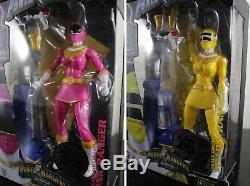 Set Complet 6 Power Rangers Zeo Legacy Rouge Vert Or Bleu Rose Jaune Ranger
