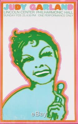 Seymour Chwast Judy Garland 37 X 23,25 Lithograph 1967 Pop Art Vert, Rose