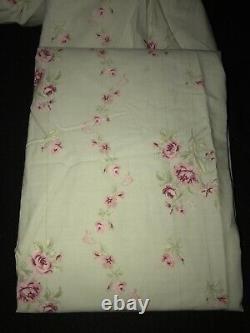 Simply Shabby Chic Bébé Rachel Ashwell Roses Roses Sur Les Panneaux Vert 3pc Rideaux