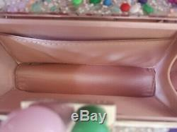 Sophia Webster Clara Lollipop Crystal Box Pochette, Bnwt, Rose, Argent, Vert