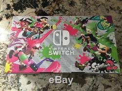 Splatoon 2 Set Console Nintendo Switch Bundle Set Vert Rose Joy-cons Tout Neuf