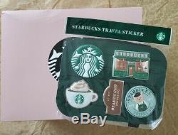 Starbucks Corée Été Prêt Sac Rose Avec Voyage Autocollant Vert 2020 Limitée