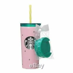 Starbucks Japan Tumbler Inoxydable Pastèque Suika Rose Vert 355ml D'été 2019