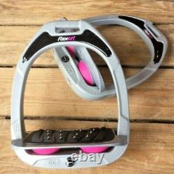 Stirrups Composites Verts Flex-on W Inclined Ultra Grip Tread Silver/pink/grey