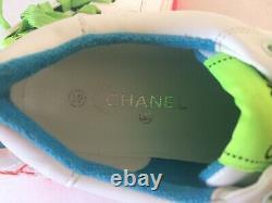 Stunning Designer Femmes Chanel Ss2020 Traqueurs De Style Uk 6 39 Néon Rose Green