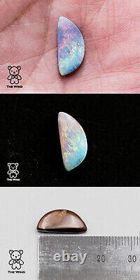Superbe Opale Australienne De Boulder De Koroit Avec Le Gemme Lâche De Modèle Rose Et Vert