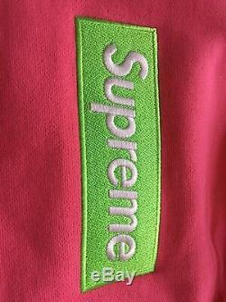 Supreme Box Logo Hoodie (fw17) Vert / Rose Grande