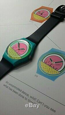 Swatch Keith Haring Breakdance Go 001 Prototype - Grand Vert - Deuxième Rose