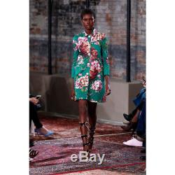 Sz 38 $ 2800 New Gucci Runway Vert Blooms Floral Blooms Veste En Coton Matelassé Manteau