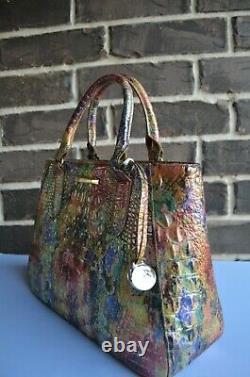 T.n$-o. 315 $ Brahmin Harvest Melbourne Leather Sm Irene Satchel Rose Vert Violet