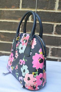T.n.-o. Kate Spade Sylvia Medium Dome Satchel Bouquet De Fleurs Sauvages Multi Vert Rose