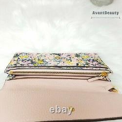 T.-n.-o. Tory Burch Britten Smartphone Wallet Field Wristlet Rose Vert Nouveau