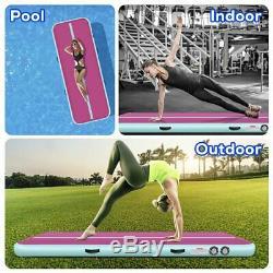Tapis Gonflable Gym + De Culbutage De Gymnastique À La Maison De Gymnastique À La Maison De Plancher De Voie D'air De 20ft Airtrack