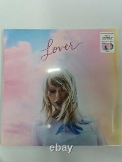 Taylor Swift Lover Double Vinyl Record Lp Nouvelle Marque Scellée Rose Vert