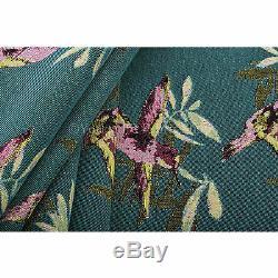 Tissu De Rembourrage Tissu À Motif Oiseau Kingfisher Vert Rose Bleu De 10 Mètres