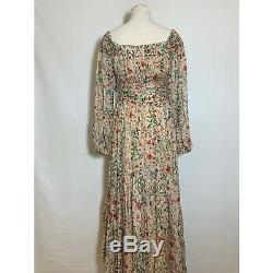 Tn-o Amur Robe Daria Blush Multi Wildflower Rose Verte De Mariage Doen Taille 4