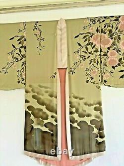 Tom Ford Pour Gucci Kimono M 2003 Silk Green Rose Moyen
