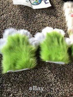 Vert Et Rose Tête De Fursuit Canine