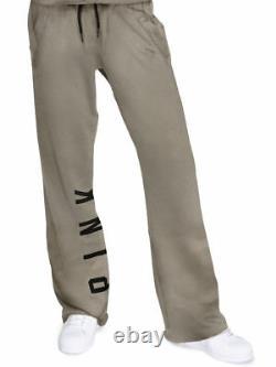 Victoria Secret Rose Slouchy Graphic Petit Ami Vert Pantalon Schiste Sweat Nwt L
