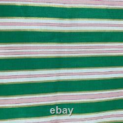 Vintage Schumacher Chintz 5 Ans Regal Stripe Skyview Rose Vert Stripe Gramercy