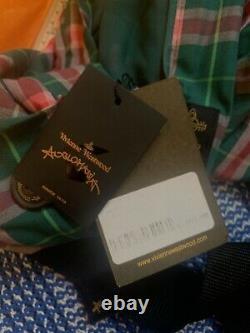 Vivienne Westwood Anglomania Vert Et Rose Jupe Asymétrique
