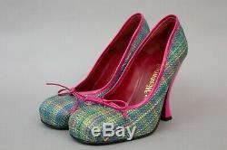 Vivienne Westwood Femmes Rose Et Chaussures De Tartan Vert, Taille 38, Royaume-uni 5