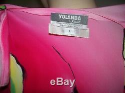 Vtg Nos Avec Tags I. Magnin 720 $ Yolanda Lorente Rose Violet Vert Blazer Cap L
