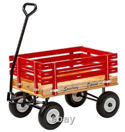 Wagon Pour Enfants Sans Pneus Plats Rouge Vert Rose Rose Amish Handmade USA