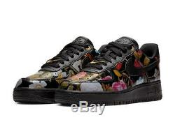Wmns Nike Air Force 1'07 LXX Floral Ao1017 002 Noir / Vert / Rose / Rouge