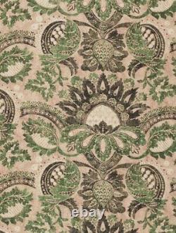 Zoffany Rideau Fabric'pomegranate ' Impression 3 Mètres De Toscane Rose / Vert Chasseur